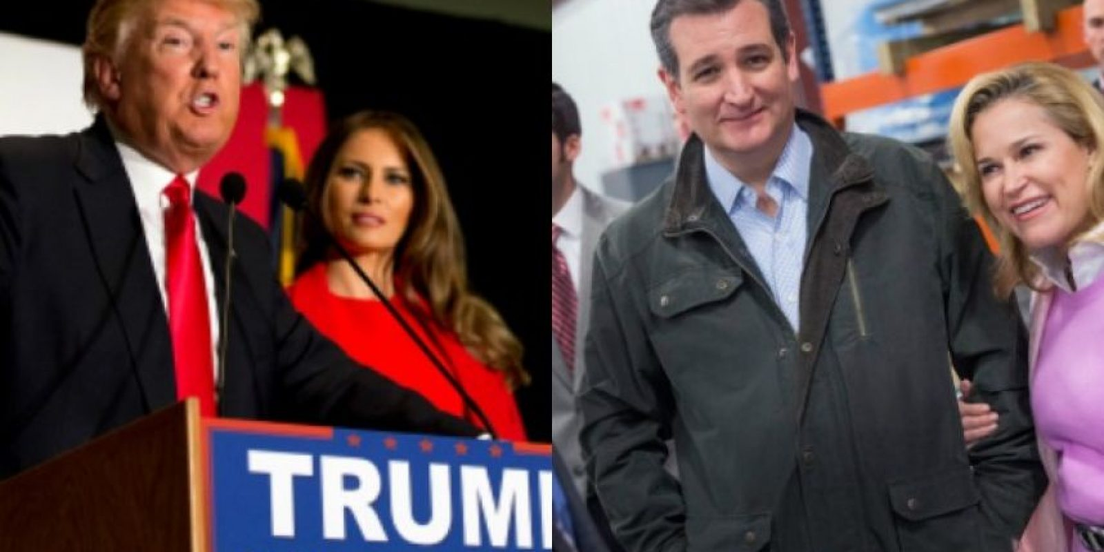 Las esposas de los republicanos Donald Trump y Ted Cruz Foto: Getty Images
