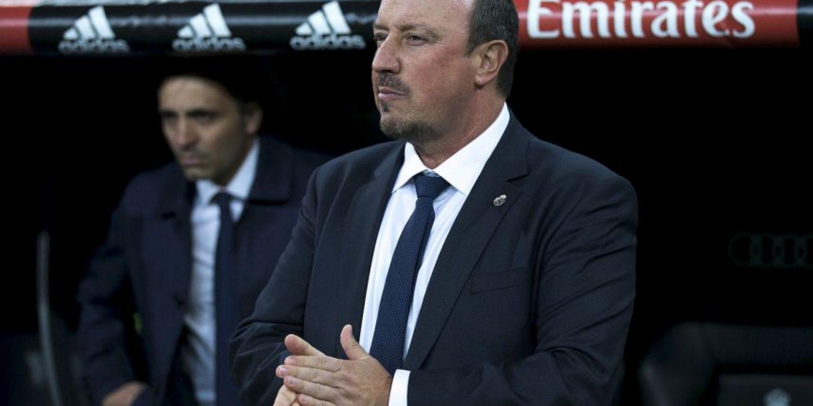Benítez comenzó a entrenar al Real Madrid en la temporada 2015/2016, pero fue despedido el pasado mes de enero por la crisis de resultados del equipo. Foto:Getty Images