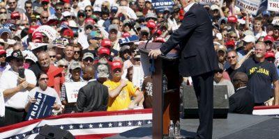 Después de la victoria en las primarias de New Hampshire el 9 de febrero Trump reconoció públicamente su trabajo. Foto:Getty Images