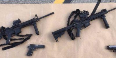 Autoridades encontraron un gran armamento en manos de la pareja. Foto:Getty Images