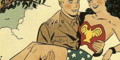 """Cuando se ven las fotos de """"La Mujer Maravilla"""", aparece el capitán Steve Trevor, que será interpretado por Chris Pine en la película de la superheroína. Allí es un soldado de la Primera Guerra Mundial. Foto:vía DC Cómics"""