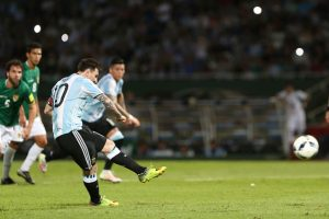 Y Lionel Messi, de penal Foto: Getty Images