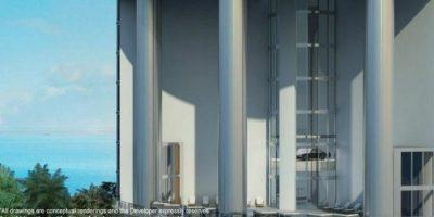 Esta torre cuenta con el respaldo de la marca de automóviles Porsche. Foto:Porsche Design Tower