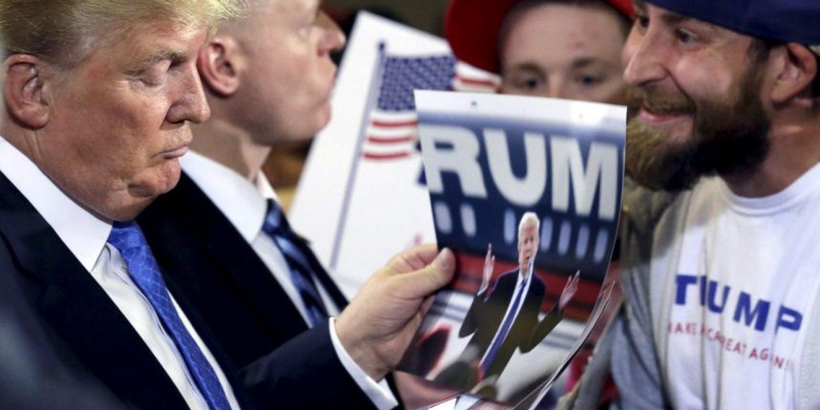 A pesar de llevar una campaña muy polémica, Trump ha logrado colocarse entre los favoritos. Foto:AP