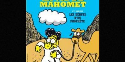 Mahoma es uno de los personajes recurrentes de las portadas del semanario. Foto:Charlie Hebdo