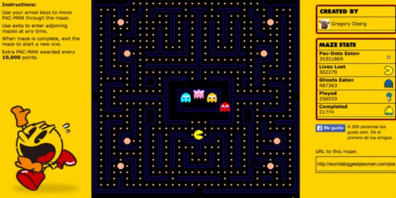 Revivan su infancia con el querido Pac-Man. Foto:Pac-Man