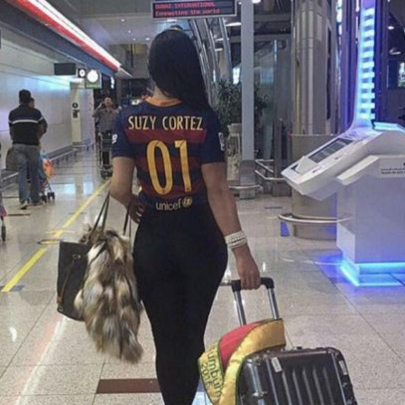 Pero también siente los colores del Barcelona. Foto:Vía instagram.com/suzycortezoficial