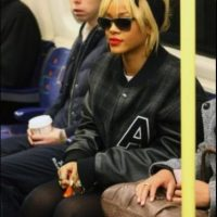 Rihanna Foto: Vía celebritiesonthesubway.tumblr.com