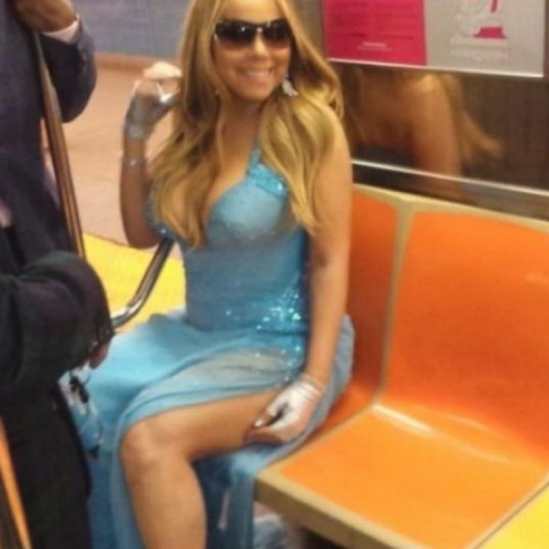 Mariah Carey Foto: Vía celebritiesonthesubway.tumblr.com