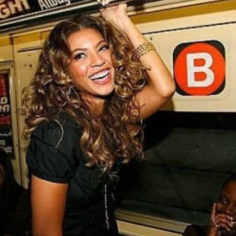 Beyoncé Foto: Vía celebritiesonthesubway.tumblr.com