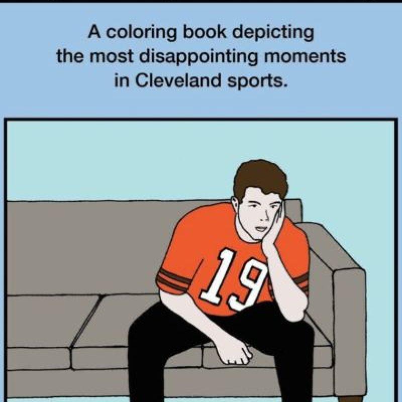 """""""¿Por qué papá está triste el domingo? Recopilación de los momentos más decepcionantes del deporte en Cleveland"""". Las ediciones latinas serían un """"hit"""", eso es seguro. Foto:vía Amazon"""