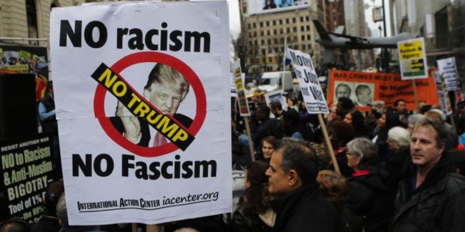 Trump logró que la gente lo señale como racista, nazi y sexista. Foto:Getty Images