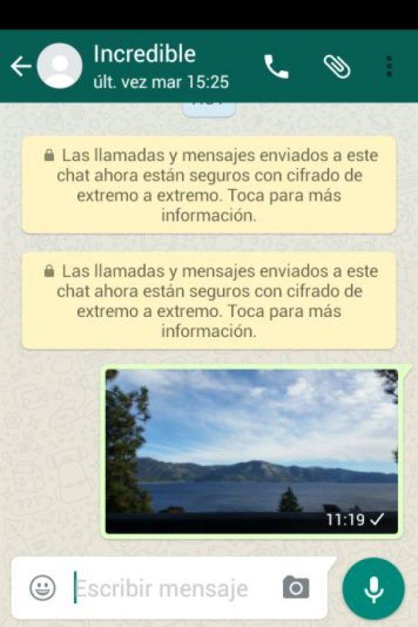 WhatsApp te permitirá cifrar todas tus conversaciones. Foto:WhatsApp