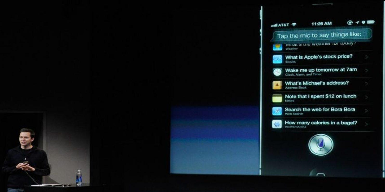 Siri fue adquirida por Apple el 28 de abril de 2010. Foto:Getty Images
