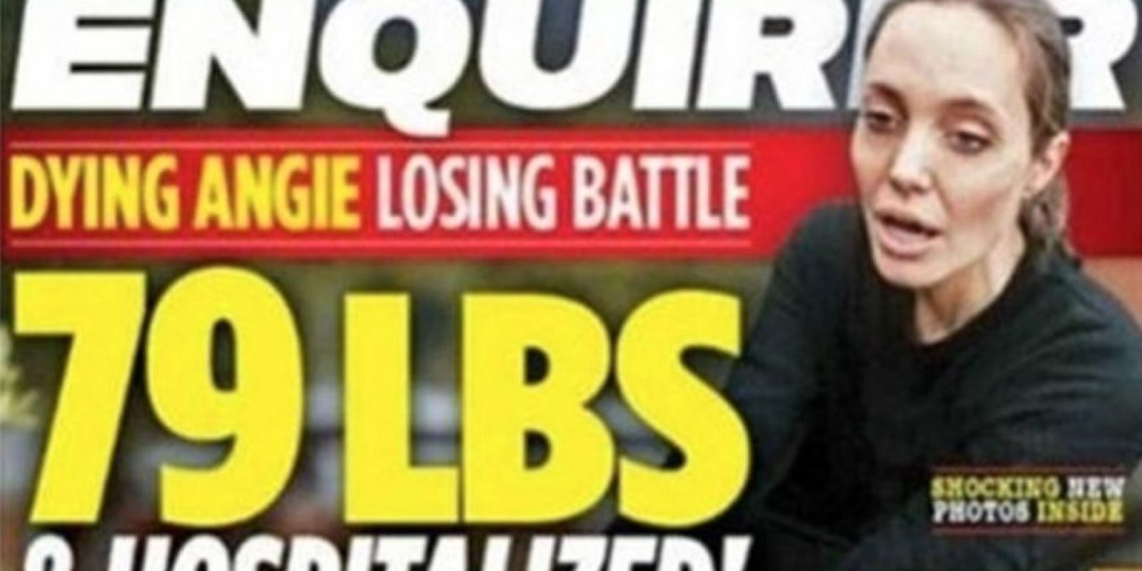 Esta fue la portada del tabloide Foto: The National Enquirer