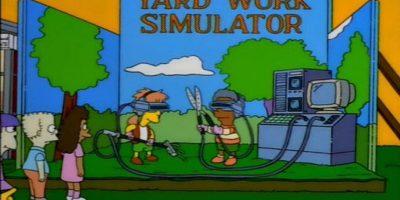 """En 1998, en la temporada 9, episodio 12, """"Bart Carny"""", los niños de Springfield trabajaban en un simulador de jardín, similar al juego Farme Ville. Foto:Fox"""