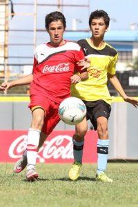 Momento de acción del partido entre los equipos Liceo Francés y CEMEP durante la ronda de grupos de la etapa capitaleña de la Copa Coca-Cola de Foto:Fuente externa