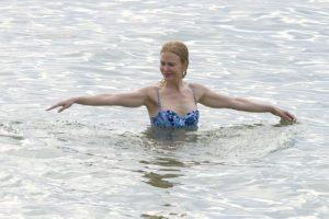 """""""La chica del bikini azul"""" Foto:Grosby Group"""