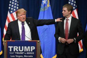 Eric Trump también se desempeña como empresario y trabaja con su padre en la organización Trump. Foto:Getty Images