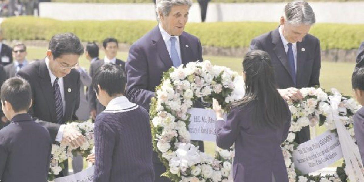 """John Kerry abogó en Hiroshima por un """"mundo sin armas nucleares"""""""