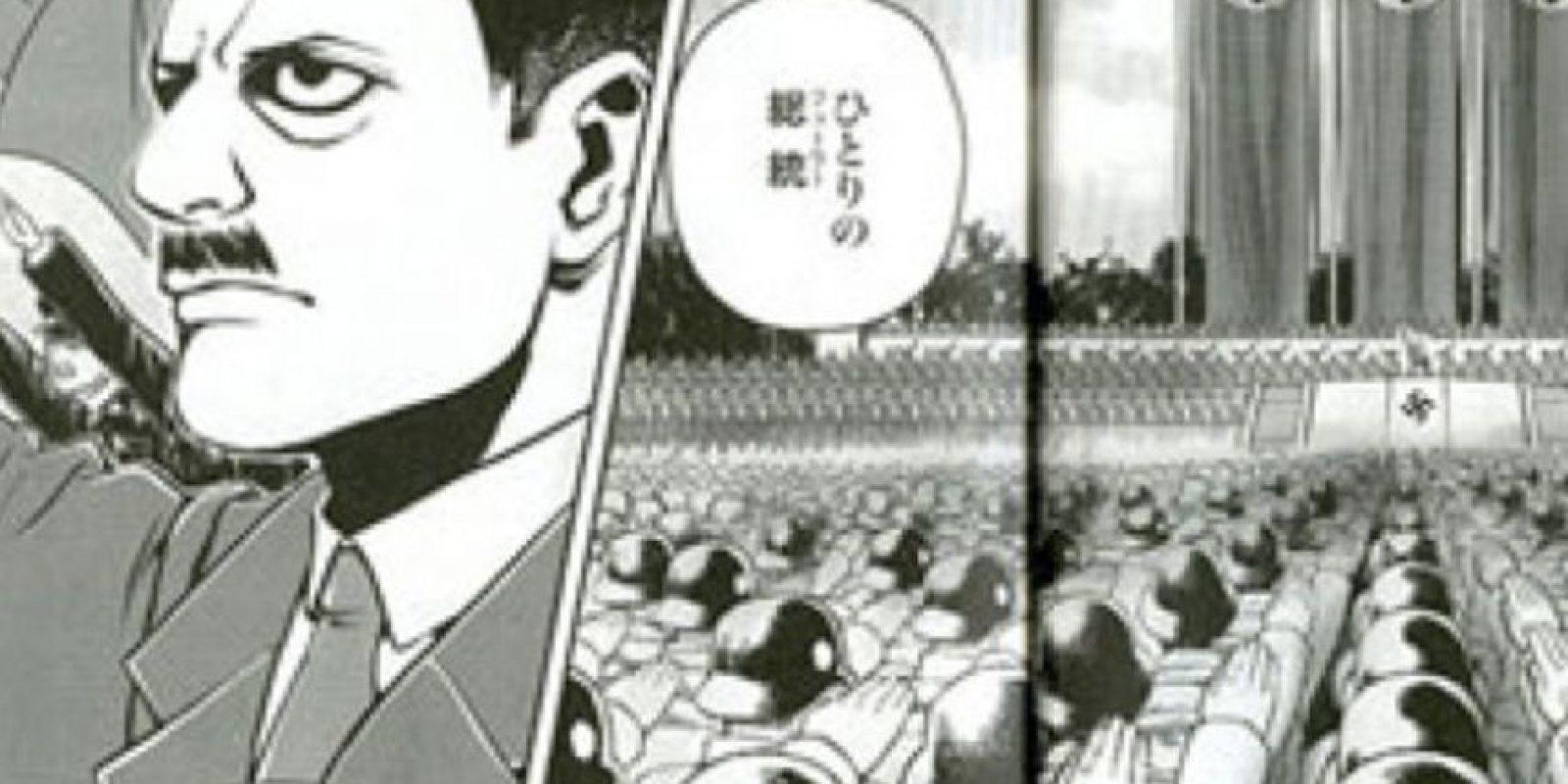 """Este manga de """"Mi Lucha"""", lanzado hace poco, ha causado mucha polémica. Foto:vía East Books"""