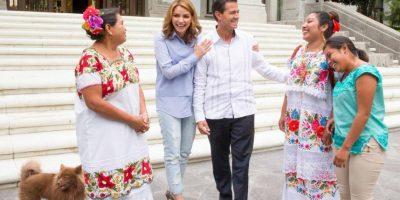 El presidente de México, Enrique Peña Nieto, también tiene mascotas en la residencia oficial de Los Pinos Foto:Getty Images