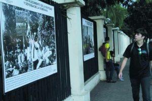La exhibición permanece en el perímetro del Minerd Foto:Roberto Guzmán