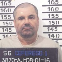 """""""El Chapo"""", en la fotografía que le tomaron al ingresar -una vez más- a la cárcelen enero pasado. Foto:Archivo"""