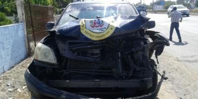 Vehículo que transportaba a Blas Peralta sufre accidente en Las Américas