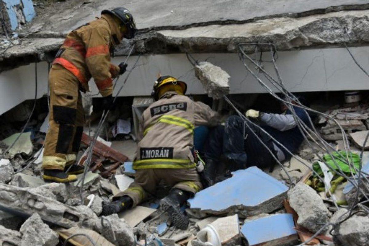 El terremoto de Ecuador ocurrió como resultado del movimiento de las placas de Nazca y Sudamericana. Foto:AFP