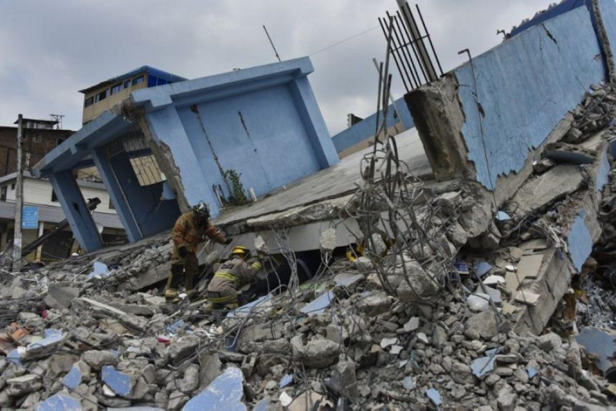 Los daños tras el terremoto del 16 de abril en Ecuador Foto:AFP