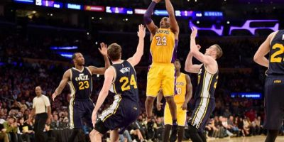 Kobe se despidió ante el Jazz de Utah, anotando 60 puntos. Foto: Getty Images