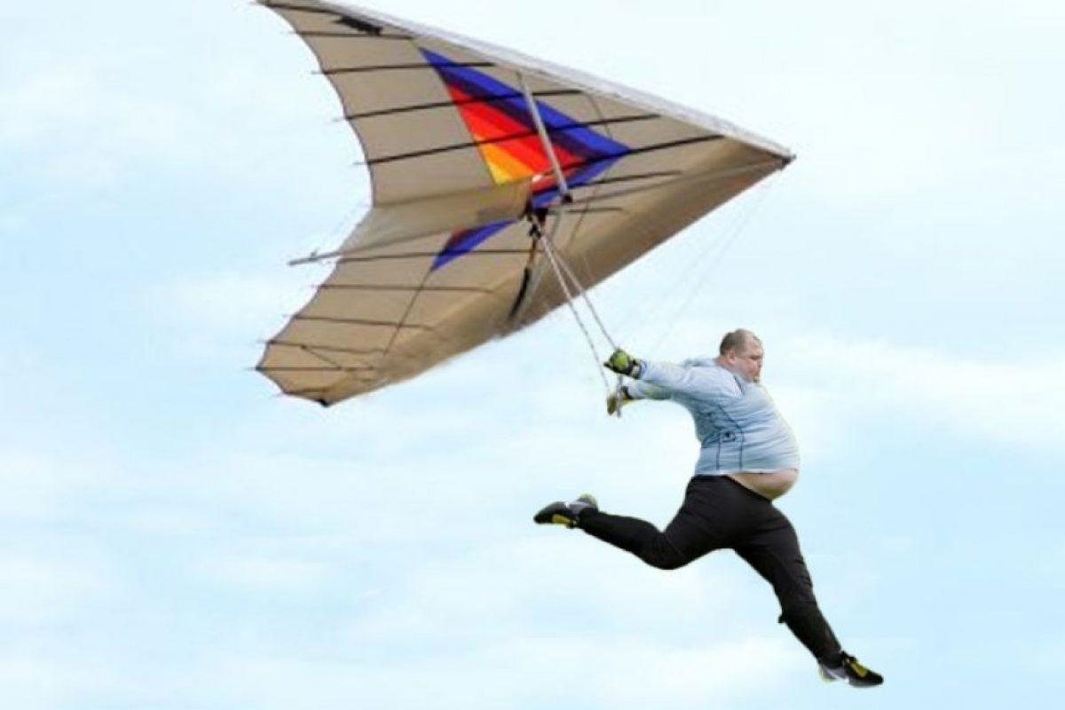 Volando en parapente. Foto:reddit.com