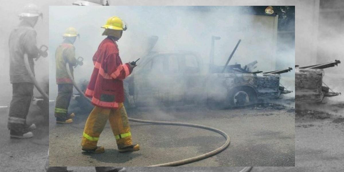 Dos heridos en otra explosión envasadora de gas en La Vega