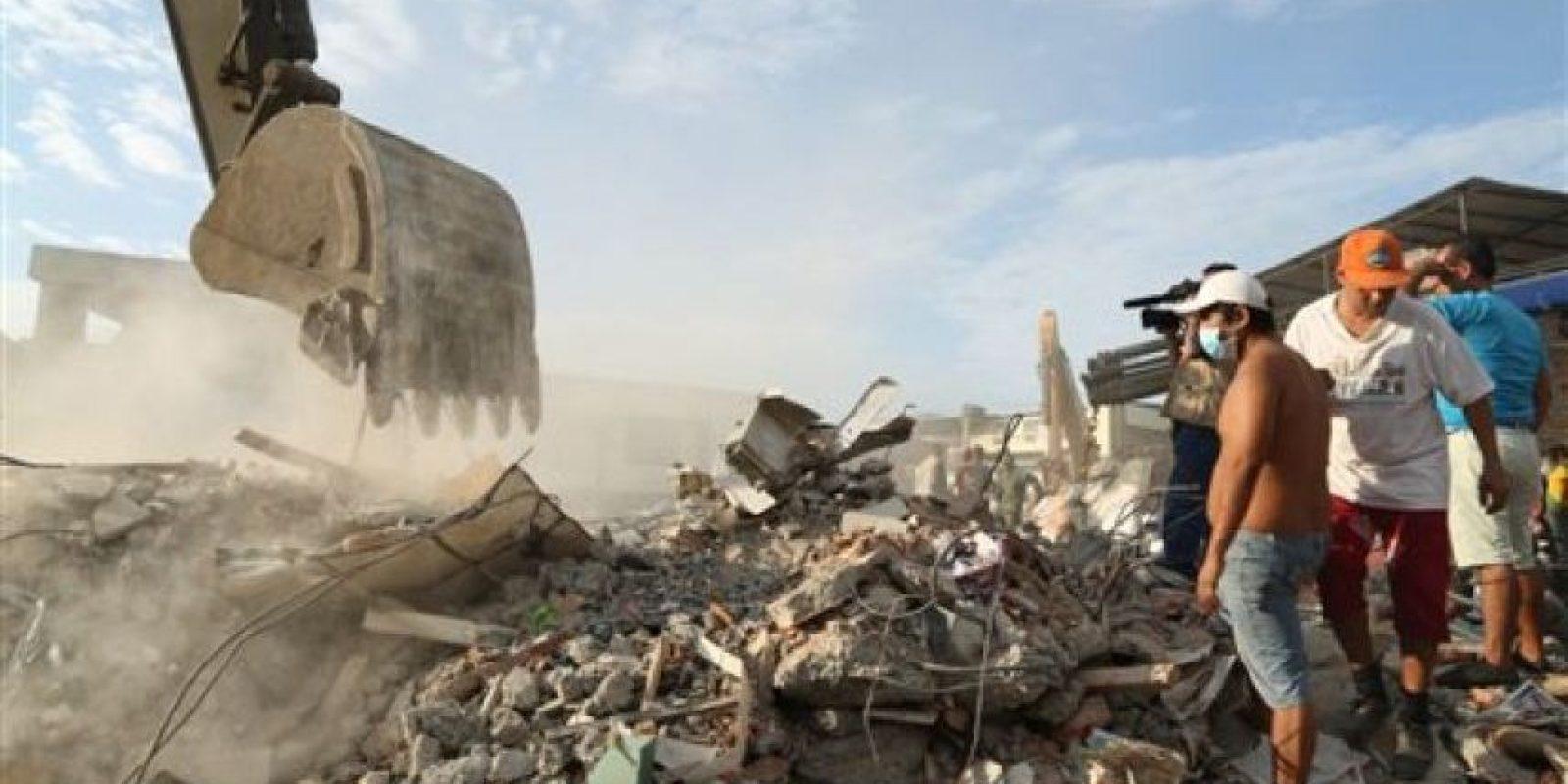 Escombros tras el sismo del pasado sábado Foto:AP