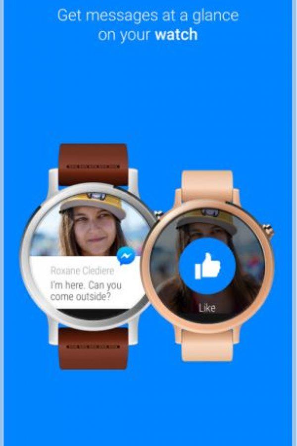 También está disponible para los relojes inteligentes. Foto:Messenger