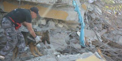 Ecuador: Policía rescata a perro en los escombros del terremoto