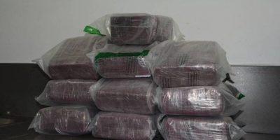 DNCD ocupa 95 libras de marihuana a una pareja de extranjeros