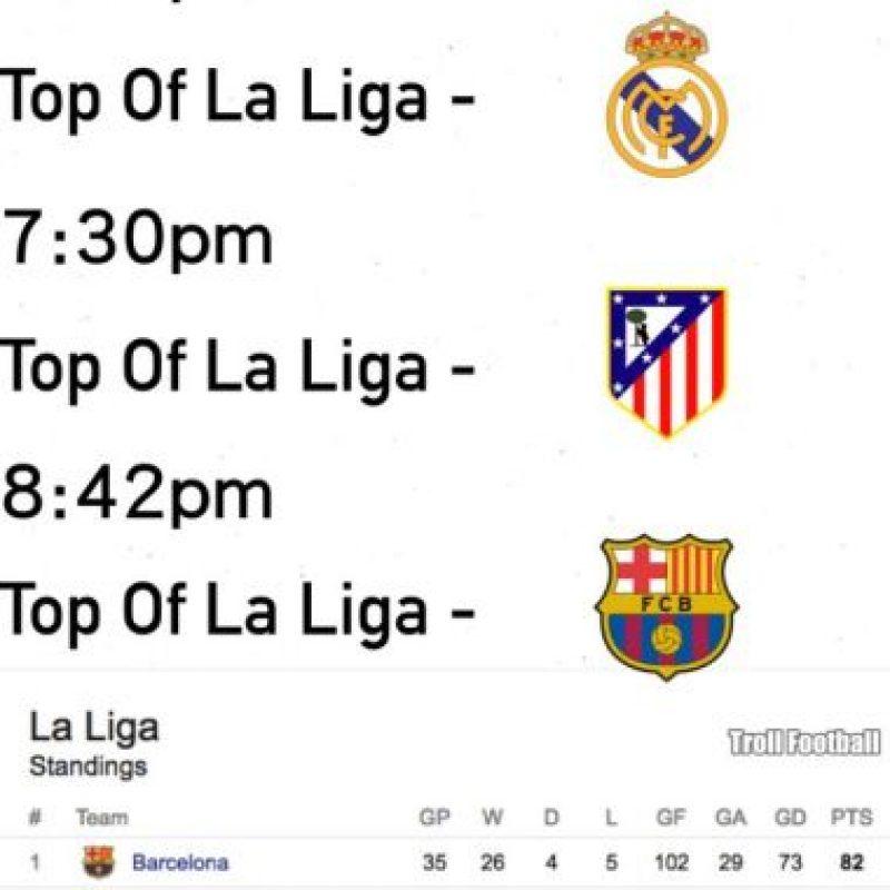 Real Madrid, Atlético y Barcelona tienen altas posibilidades de ser campeones. Foto:memedeportes.com