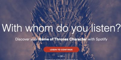 "Estas son algunas de listas que Spotify realizó inspiradas en ""Game of Thrones"". Foto: Spotify"
