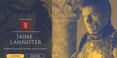 Personaje: Jaime Lannister. Foto:Spotify