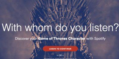 """Spotify les dice qué personaje de """"Game of Thrones"""" son"""