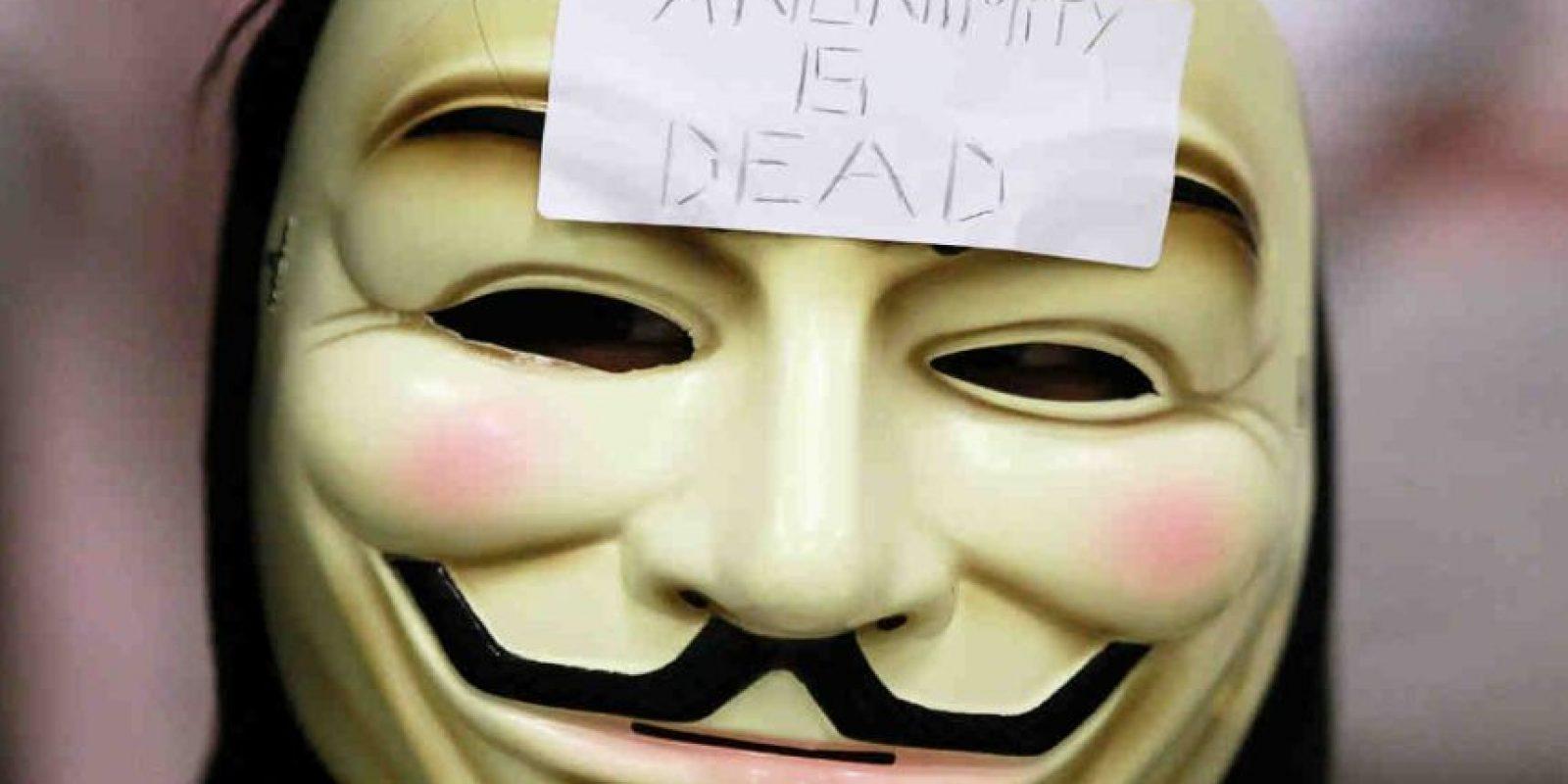 Anonymous es un grupo de hackers que opera a nivel mundial. Foto:Getty Images