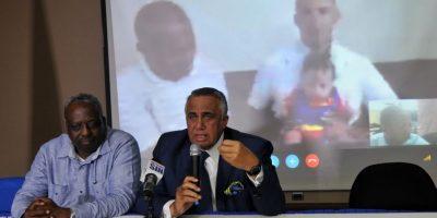 Luisín Mejía y Gerardo Suero Correa encabezaron la video conferencia. Foto:Fuente externa
