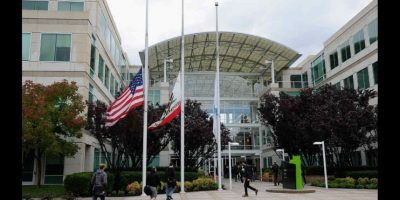 Dentro de las oficinas de Apple en Cupertino hay árboles reales. Foto: Getty Images