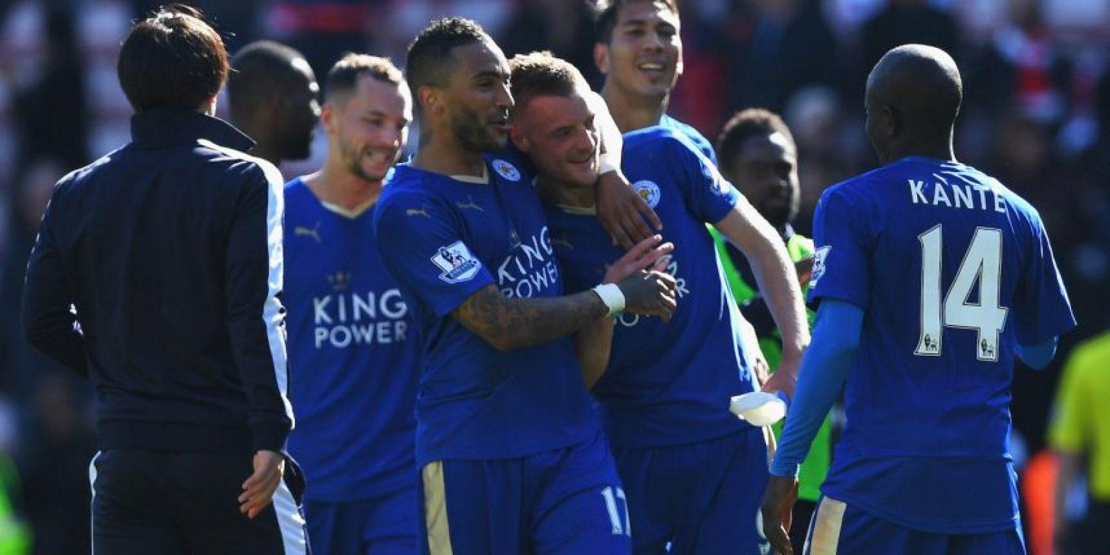 Leicester es el líder general de la Premier League a falta de tres partidos Foto:Getty Images