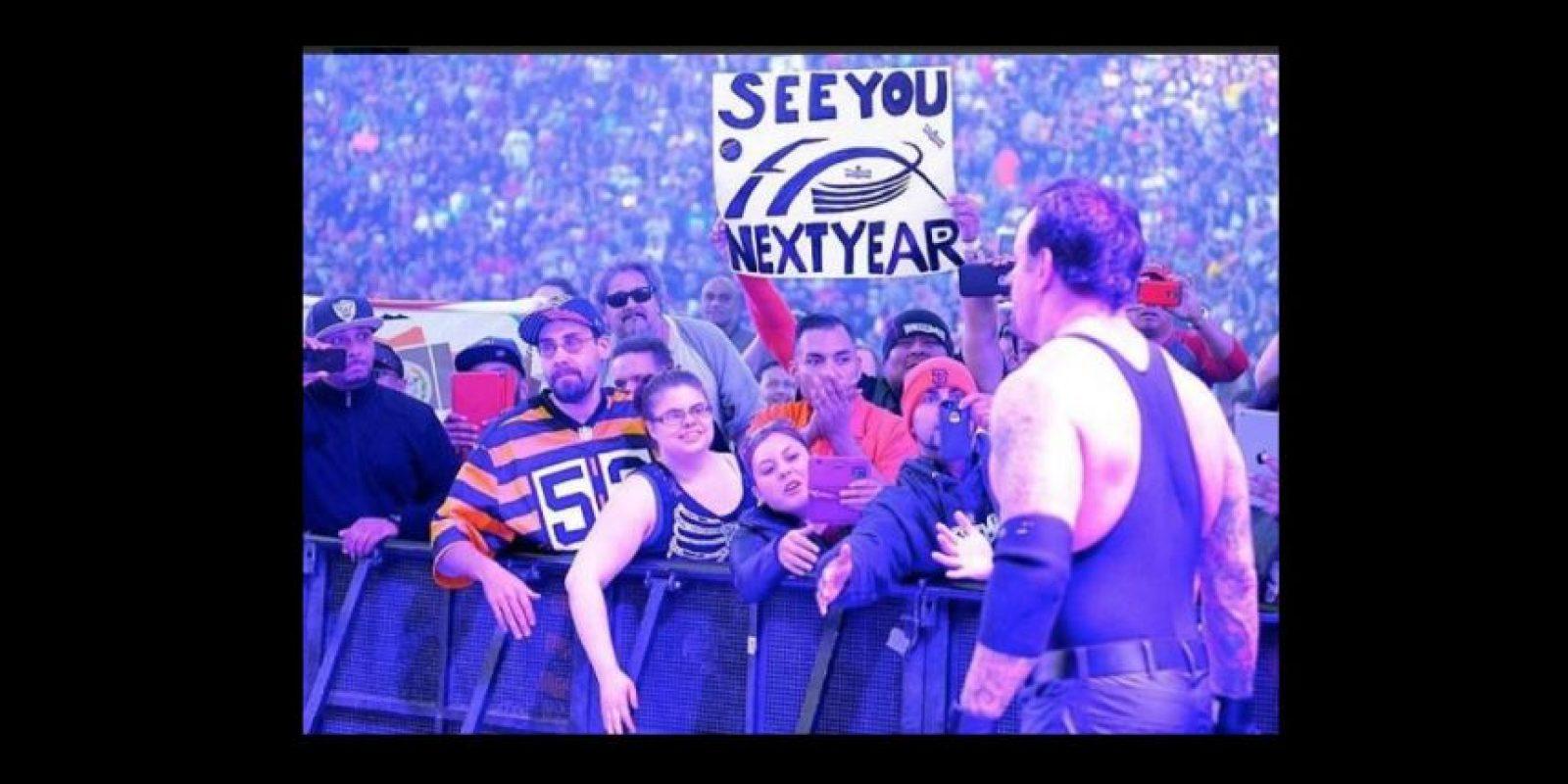 Tiene un récord en Wrestlemania de 23 victorias y una derrota Foto:Vía twitter.com/WWEMarkWCalaway