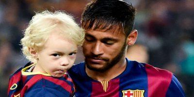 Neymar y su hijo Davi Lucca Foto:Getty