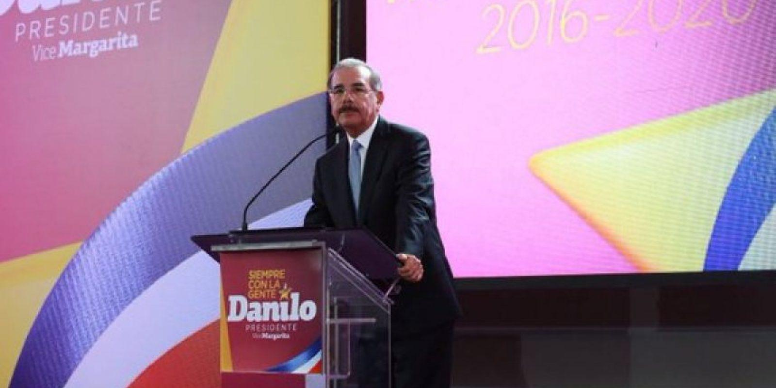 Danilo Medina dictando su discurso Foto: @MargaritaRD2016