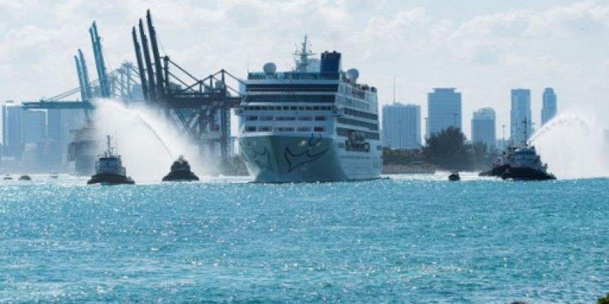Así es el primer crucero que viajó de Estados Unidos a Cuba